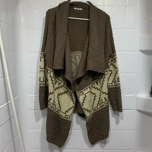 Cozy Casual waterfall knit cardigan duster